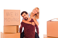 Couple on Relocation Royalty Free Stock Photos