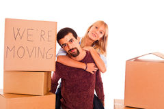 Couple on Relocation Royalty Free Stock Photo