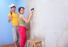 Couple repair room Royalty Free Stock Photos