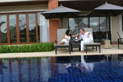Couple at a resort Stock Photography