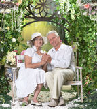 Couple at the resort Stock Photos