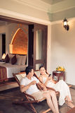 Couple in resort Stock Photography