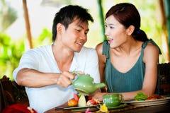 Couple At Restaurant Royalty Free Stock Photos