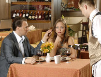 Couple in restaurant Stock Photos