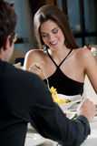 Couple at The Restaurant Royalty Free Stock Photography
