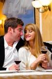 Couple at restaurant Stock Photo