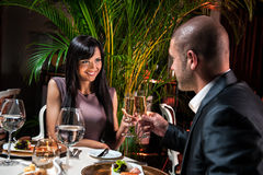 Couple at restaurant Stock Image