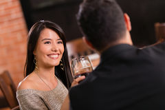 Couple at a restaurant Royalty Free Stock Images