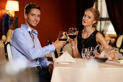 Couple in a restaurant Stock Photography