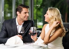 Couple in a restaurant Stock Image