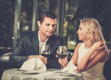 Couple in a restaurant Royalty Free Stock Photo
