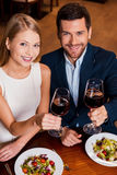 Couple in restaurant. Stock Photography