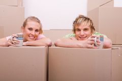 Couple resting Stock Images