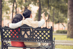 Couple resting Stock Photography
