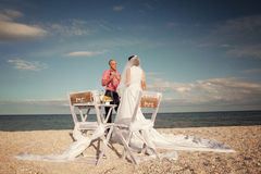 Couple resting on the beach Royalty Free Stock Photo