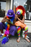 Couple Resting at Gay Pride Parade NYC Royalty Free Stock Photography