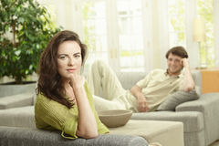 Couple resting at home Stock Photo