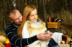 Couple resting in nature Stock Image