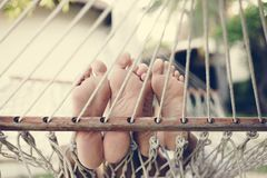 Free Couple Resting Together In A Hammock Stock Photo - 120921180