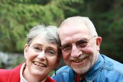couple retired smiling Στοκ Φωτογραφία