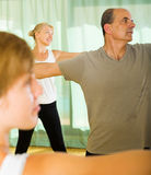 Couple of retirees at gym Royalty Free Stock Images