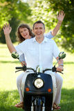 Couple riding Stock Photos