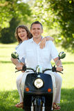 Couple riding Stock Images