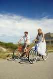 Couple Riding Bikes Royalty Free Stock Photo