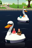 Couple Riding Duck Boat Stock Photography