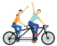 Couple riding tandem bike Royalty Free Stock Photos