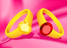 Couple rings Stock Photo