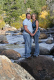Couple On River 2 royalty free stock images