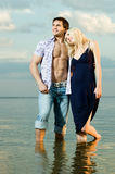 Couple on river Royalty Free Stock Images