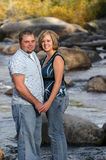 Couple On River royalty free stock photos