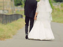 Couple on Road Royalty Free Stock Photos