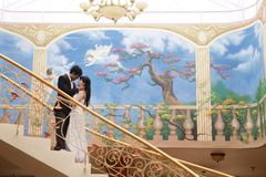 Couple romance. Photograph of couple romance indoor Royalty Free Stock Images