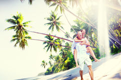 Couple Romance Beach Love Island Concept Stock Images