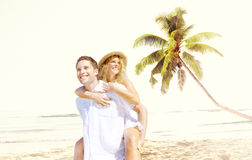 Couple Romance Beach Love Island Concept Royalty Free Stock Photography