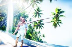 Couple Romance Beach Love Island Concept Stock Photography