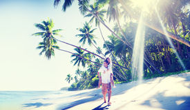 Couple Romance Beach Love Island Concept Royalty Free Stock Photos