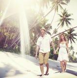 Couple Romance Beach Love Island Concept Stock Photos