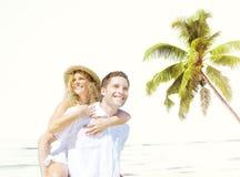 Couple Romance Beach Love Island Concept Royalty Free Stock Image
