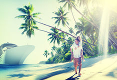 Couple Romance Beach Love Island Concept Royalty Free Stock Images