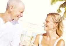 Couple Romance Beach Love Island Concept Royalty Free Stock Photography