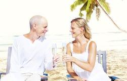 Couple Romance Beach Love Island Concept Stock Images
