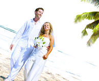 Couple Romance Beach Love Marriage Concept Royalty Free Stock Images
