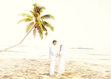 Couple Romance Beach Love Marriage Concept Royalty Free Stock Photography
