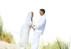 Couple Romance Beach Love Marriage Concept Stock Image