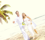 Couple Romance Beach Love Marriage Concept Royalty Free Stock Photo