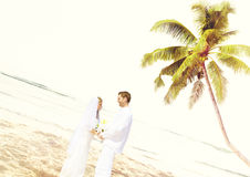 Couple Romance Beach Love Marriage Concept Royalty Free Stock Photos